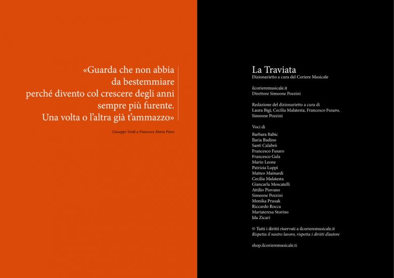 """""""Dizionarietto"""", online dictionary of Traviata, inside pages"""