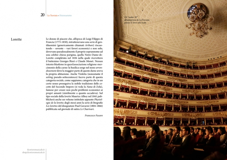 """Dizionarietto"", online dictionary of Traviata, inside pages"
