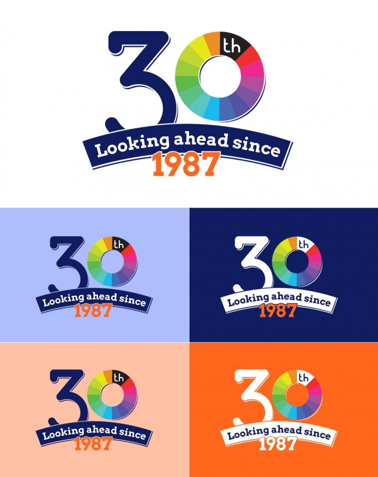 thirtieth anniversary logo